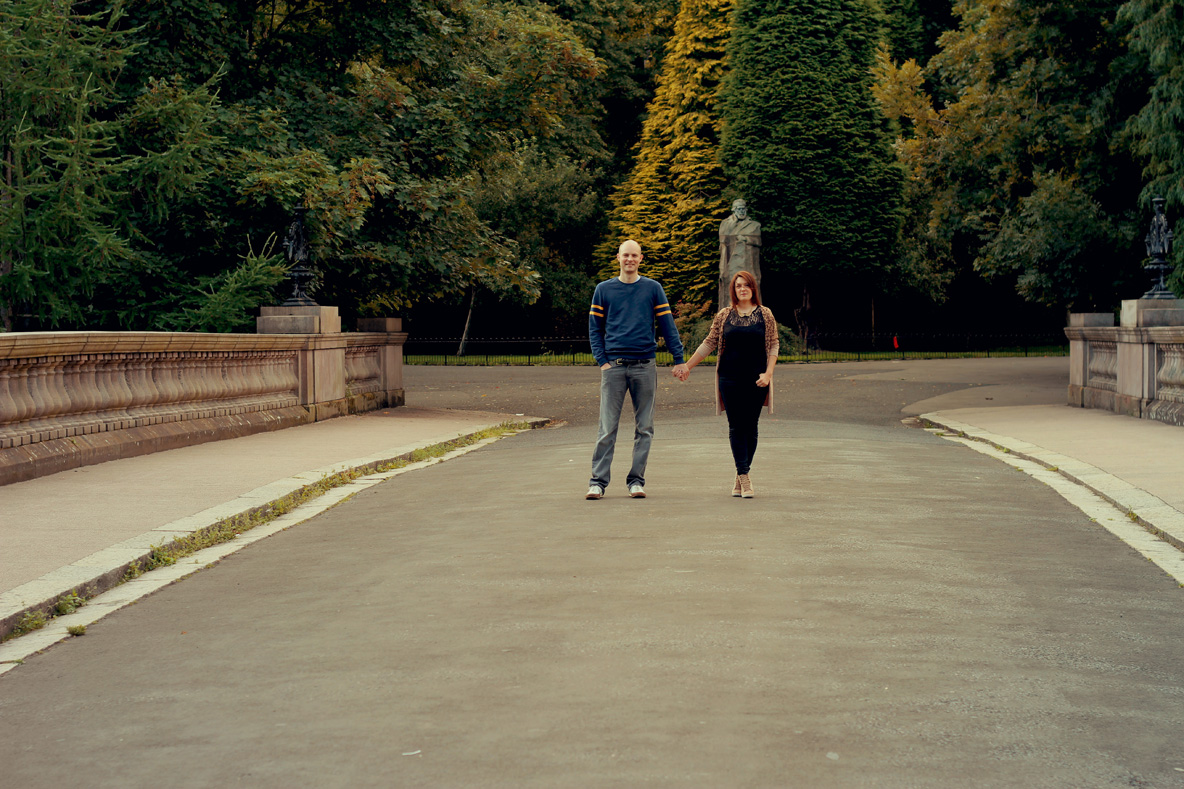 Kelvingrove Engagement Shoot \\ Sarah & Gavin