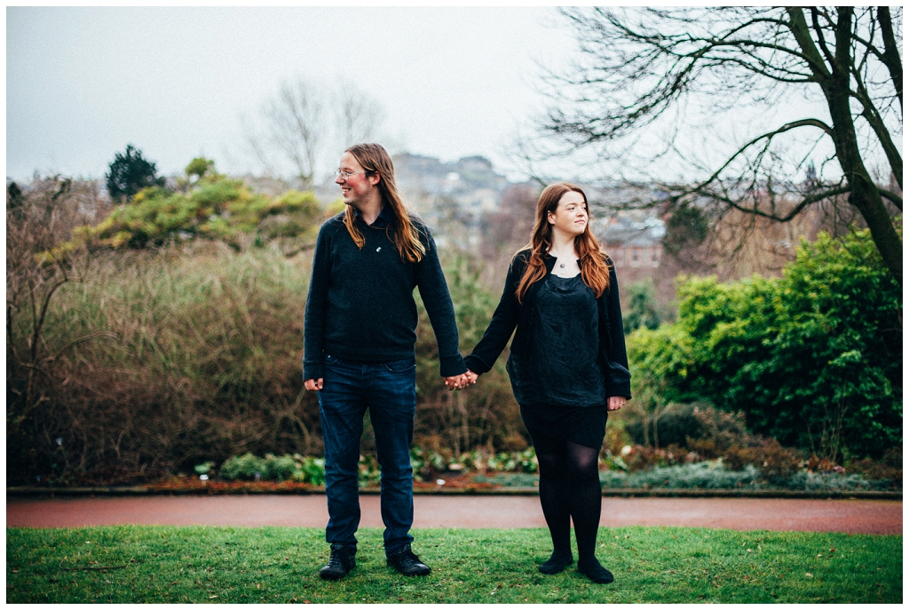 Edinburgh Botanic Gardens Engagement Shoot \\ David & Charlotte