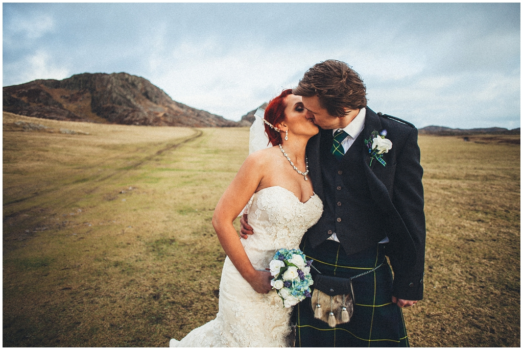 Wet & Windy Wedding on the Isle of Colonsay \\ Grace & Keir