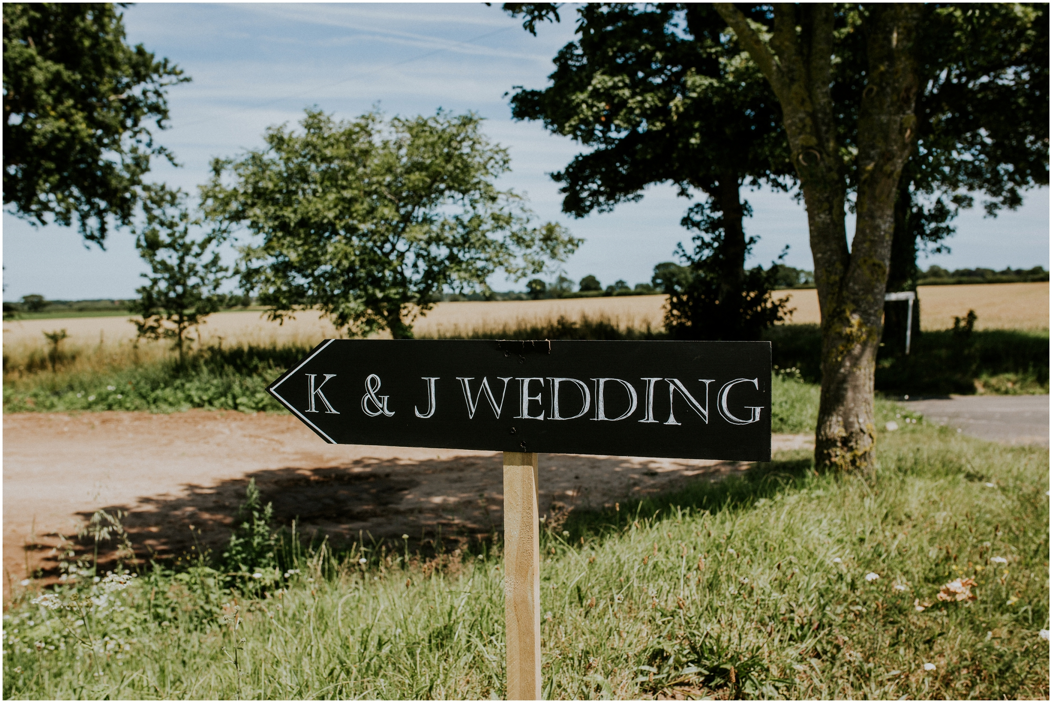 norfolk Wedding sign at the Barn at woodlands norfolk