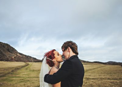 bride and groom isle of colonsay