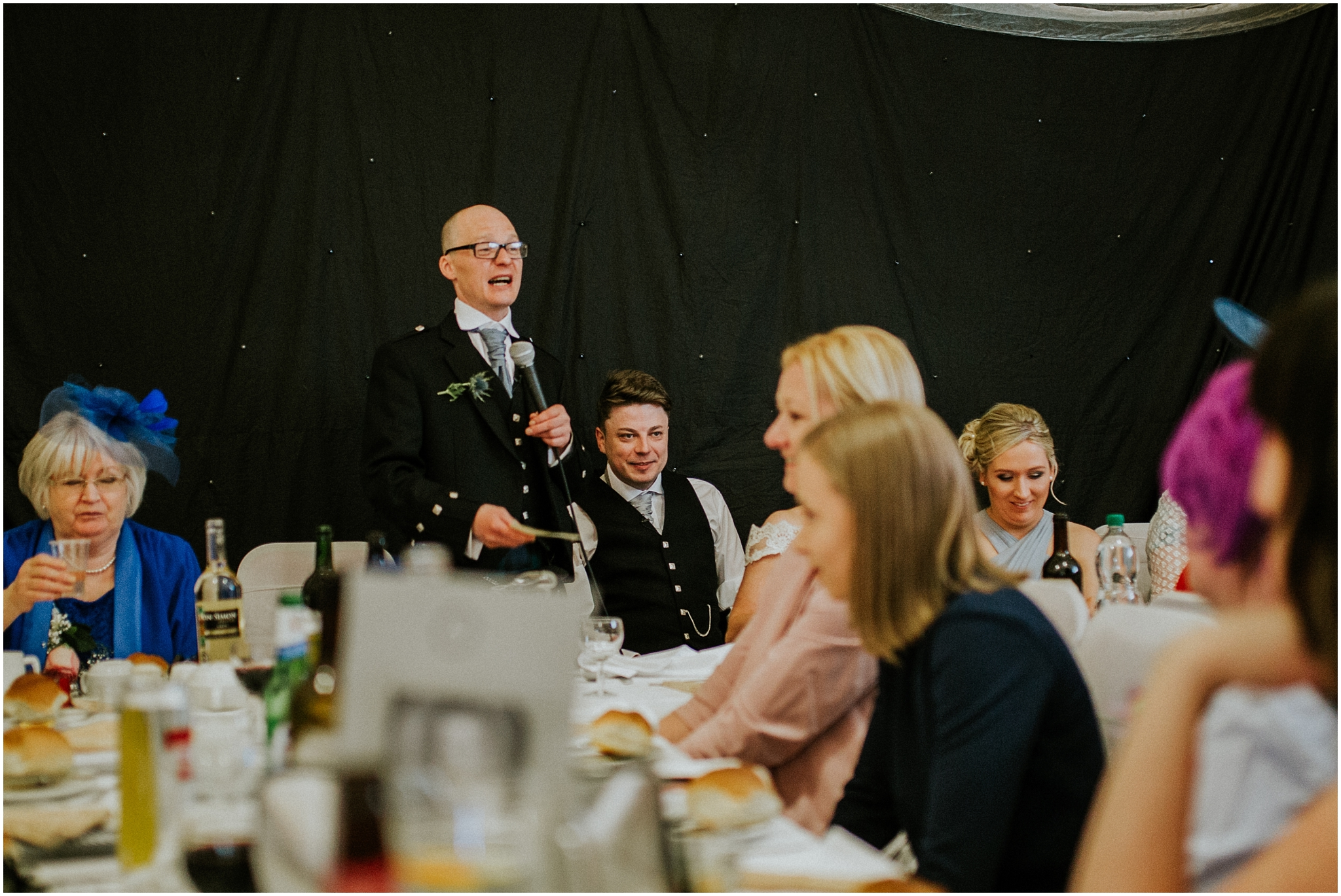 best man doing his speech