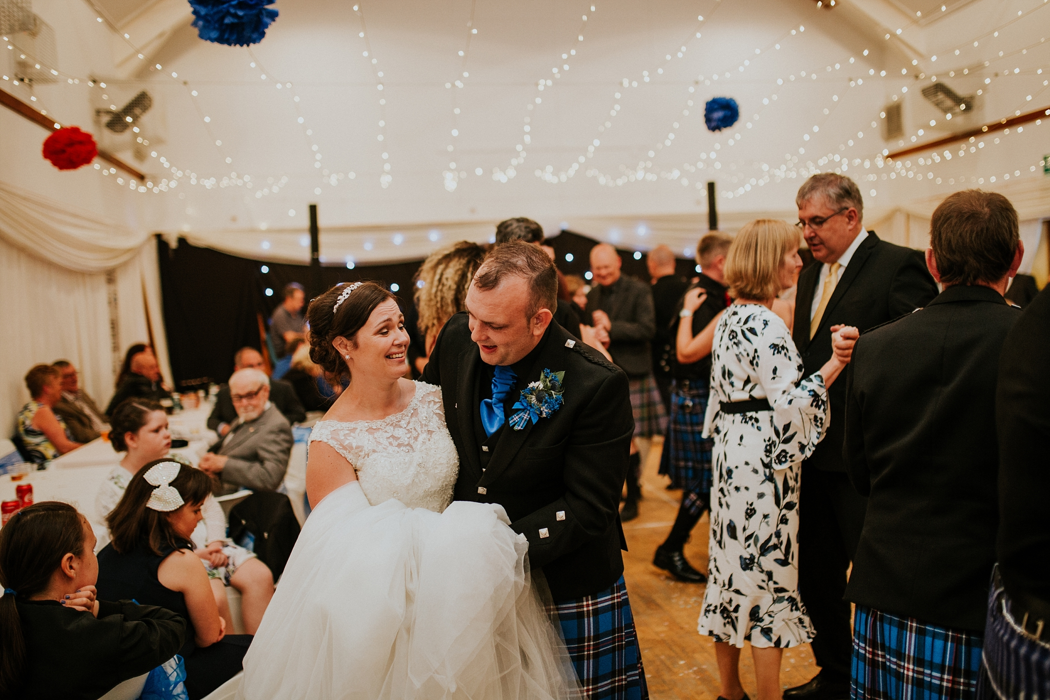 bride and groom first dance, carnish hall, north uist